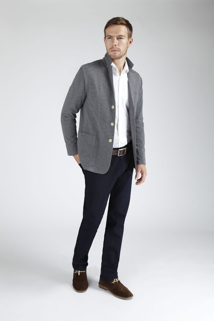 Smart Casual made easy with our Hampton Knitted Jacket. #Menswear #Style #Jersey