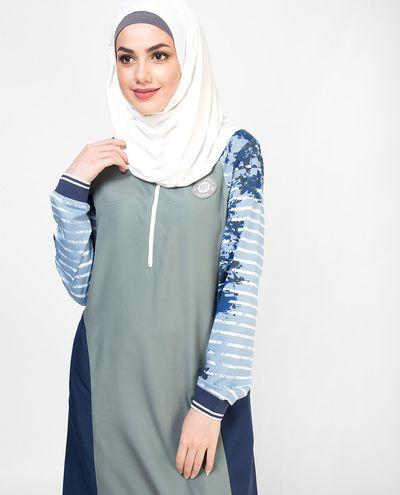 Oceanic Contrast Jilbab