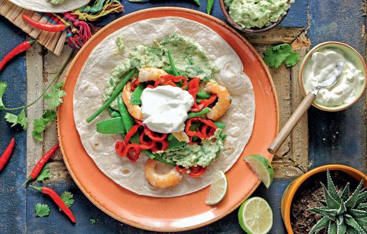 Φαχίτας με γαρίδες και αβοκάντο - Συνταγές - Σνακς & street food | γαστρονόμος