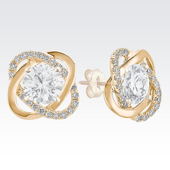 Twist Diamond Earrings Jackets In Yellow Gold This Was Pinned With Inspiration From The Shaneco Lightaspark Sweepstakes Handmade Ideas