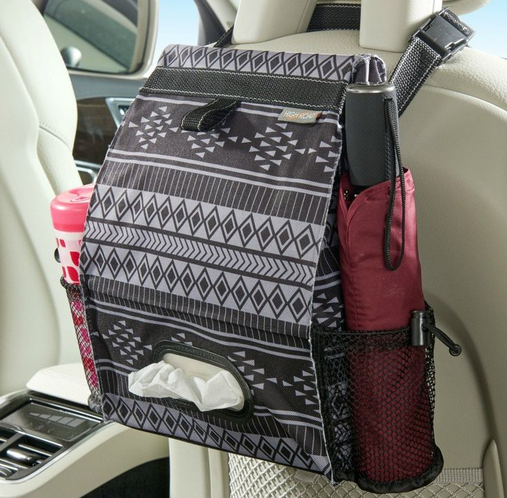 High Road Puff'nStuff Patterned Car Trash Can and Seat Organizer (Baja)