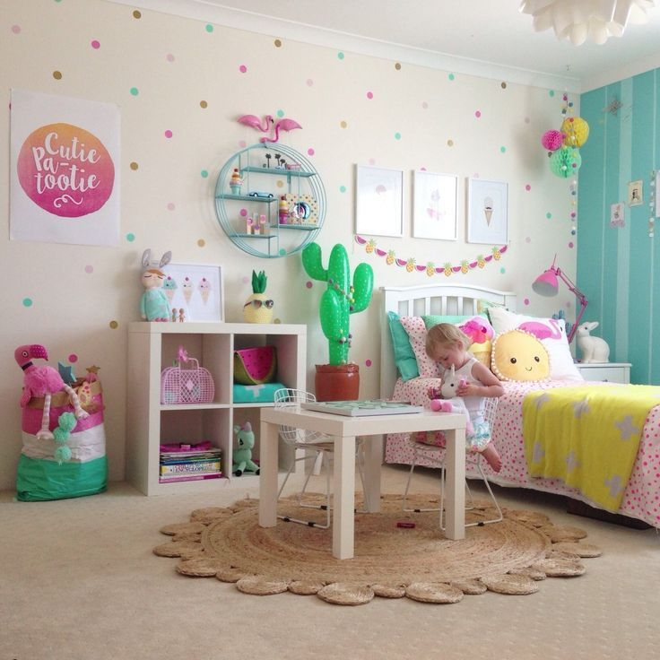 Best 25 polka dot bedroom ideas on pinterest polka dot walls polka dot room and polka dot - Medium size room decoration for girls ...