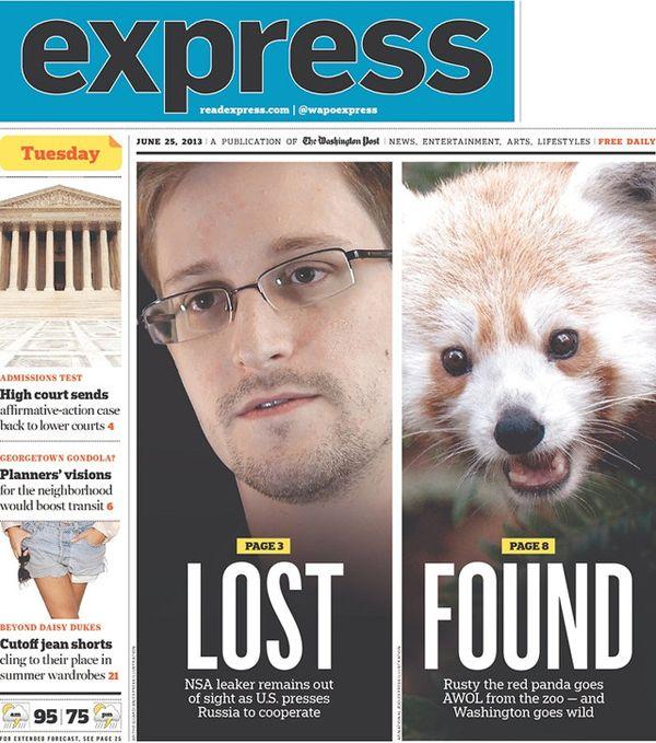 Snowden de um lado, panda do outro – a capa de hoje do tablóide de Washington http://www.bluebus.com.br/snowden-de-um-lado-panda-do-outro-a-capa-de-hoje-do-tabloide-de-washington/
