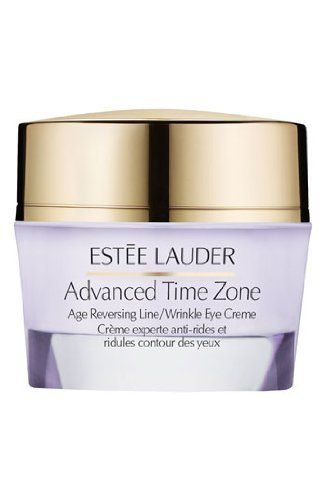 2012 New Product! Estee Lauder Advanced Time Zone Age Reversing Line/wrinkle Eye Creme 0.5 Oz/15 Ml by Estee Lauder. $55.00. Estée Lauder 'Advanced Time Zone' Age Reversing Line/Wrinkle Eye Creme 0.5 oz Brand New In Box!!!. Help rewind the visible signs of aging around your eyes. This advanced eye creme is proven to help reverse the look of aging. Instantly, your eye area appears smoother and more radiant. Lines, wrinkles, crow's feet and crepiness all look reduced--and th...