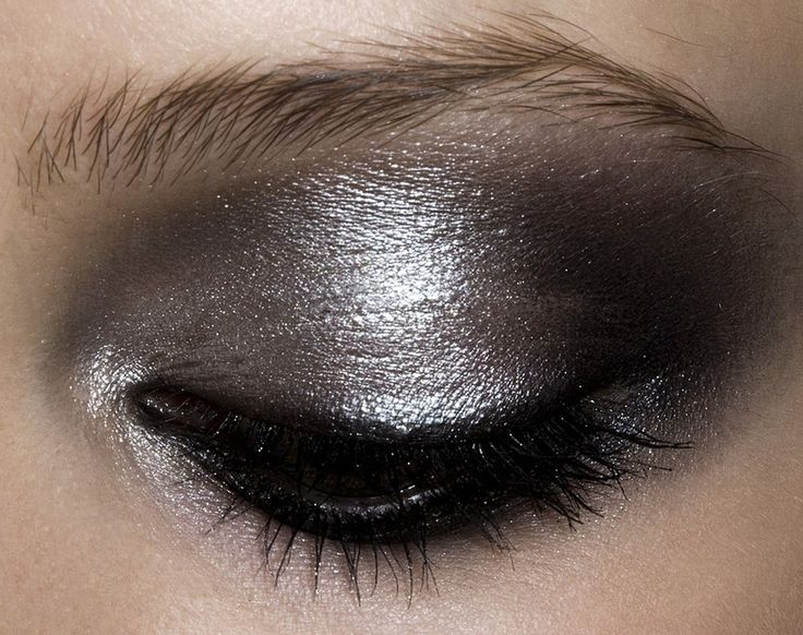 Metallic Silver Smokey Eye
