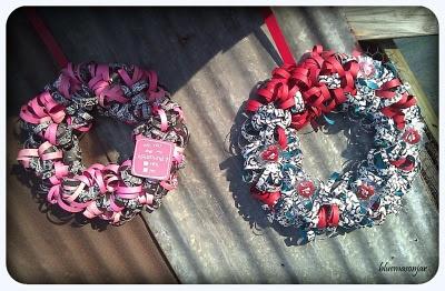 Valentine's Day Scrapbook Wreaths