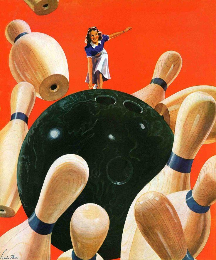 Bowling Pin Nail Designs