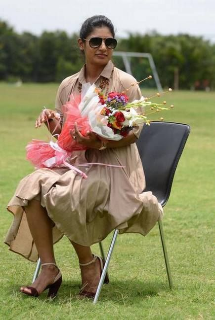 Mithali Raj greeted with garlands and bouquets during a recent event! - http://ift.tt/1ZZ3e4d