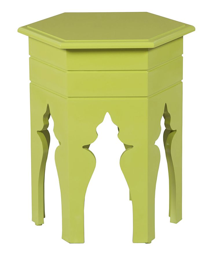 Grass Hexagonal Side Table With A Green Morrocan Style #sidetabledesign  Colorful Design #redsidetables Modern