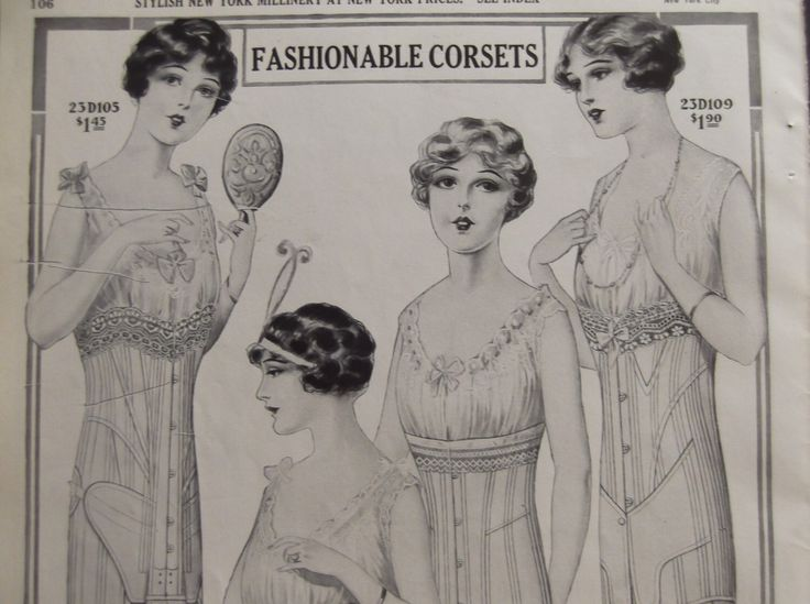 FASHIONABLE CORSETS & UNDERWEAR Edwardian Clothing Original Vintage Catalog Print From 1914 Charles William Stores Catalog Ready To Frame by VintageAdGallery on Etsy https://www.etsy.com/listing/183997370/fashionable-corsets-underwear-edwardian