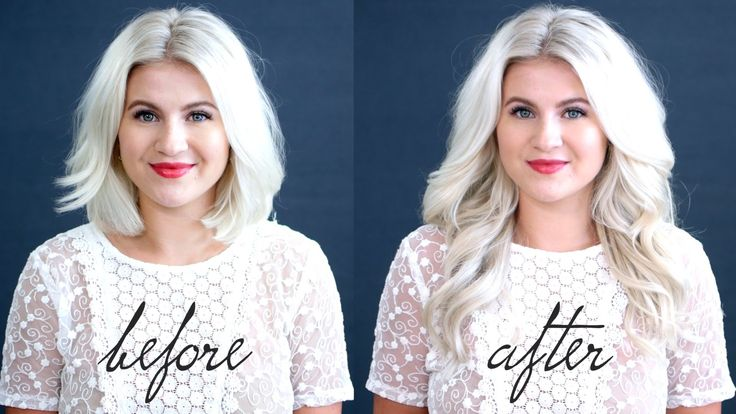 How to blend in luxy hair extensions with short hair