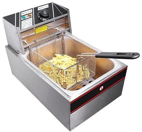 2500W 6L Electric Countertop Deep Fryer Commercial Basket French Fry Restaurant