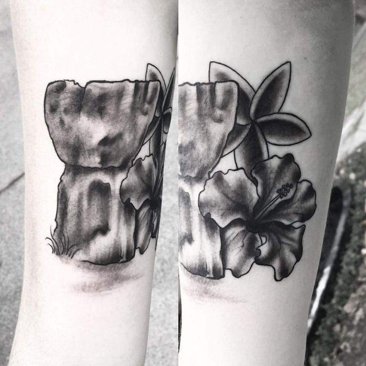 Guam inspired tattoo #671 #IslandLife #Guam #LatteStone #Plumeria #Hibiscus