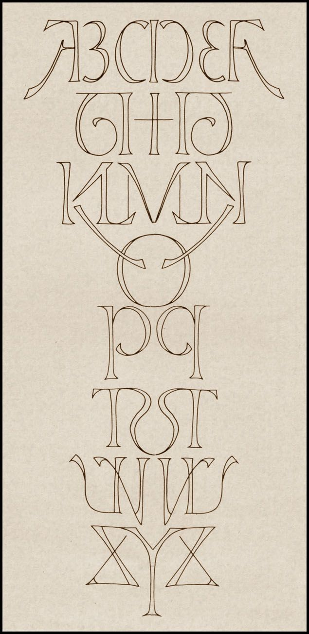 Mirror alphabet Love the deco style LOVE the mirror imaging ... Lettering