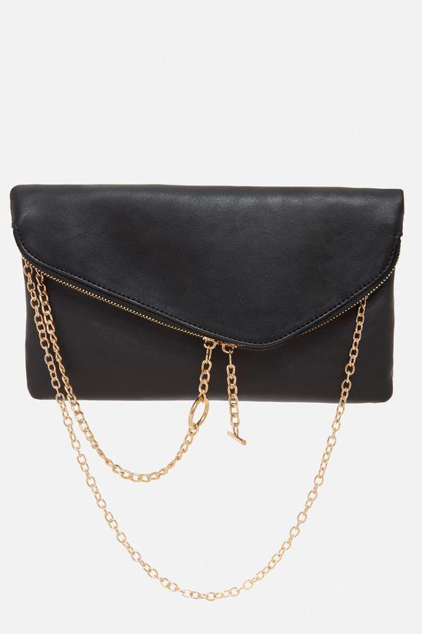 Brianne Asymmetrical Chain Clutch Bag