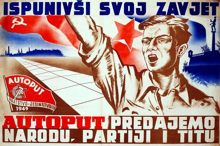 Postwar reconstruction poster Yugoslavia