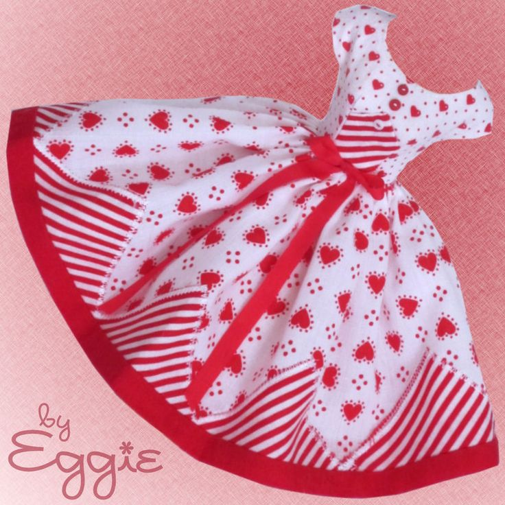 Hearts Abound - Vintage Barbie Doll Dress Reproduction Repro Barbie Clothes