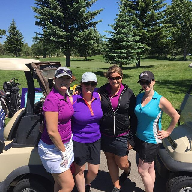 'Our office for the day, participating in the @peanutbutterclassic charity golf tournament 😊 Thank you to #thecatalystgroup for inviting us out on this beautiful day. #pbc2017 #golf #golfcourse #golftournament #charity #charitytournament #sunshine #holeinone #allstarteam #eventprofs #eventplanner #weddingplanner #yycweddingplanner #eventcoreyyc #epiceventsandweddings #imissedthepurplememo' by @epiceventsandweddings. What do you think about this one? @chantalglisse @tagvenue @epiqvision…
