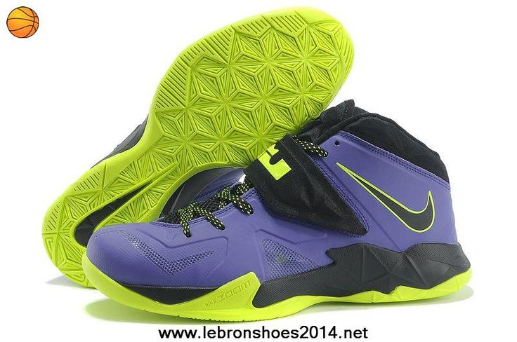 New Nike Lebron Zoom Soldier VII 599264 006 Court Purple/Flash Lime For Sale