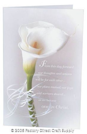 Lovely Calla Lily Create Your Own Wedding Programs 100 Paper Sheets
