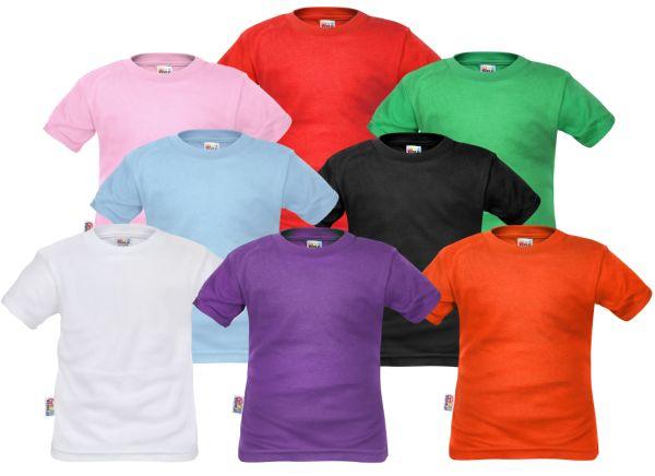 Koszulki dziecięce na WF (produkt POLSKI, najwyższa jakość, marka DEJNA) bez nadruku bardzo kolorowe dejna sosnowiec