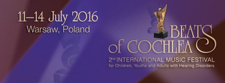 Beats of Cochlea is back for 2016! Musically talented people with hearing implants from around the world will compete in this annual international competition, held from 11 - 14 July in Poland. Congratulations to 7-year-old pianist Nikita Milutin from Russia and 19-year-old cello player Josephine Seifert from Germany! They're both MED-EL implant recipients who have been chosen from 150 applicants to perform at the gala concert on Jul 13. Stay tuned for the latest news and winners!