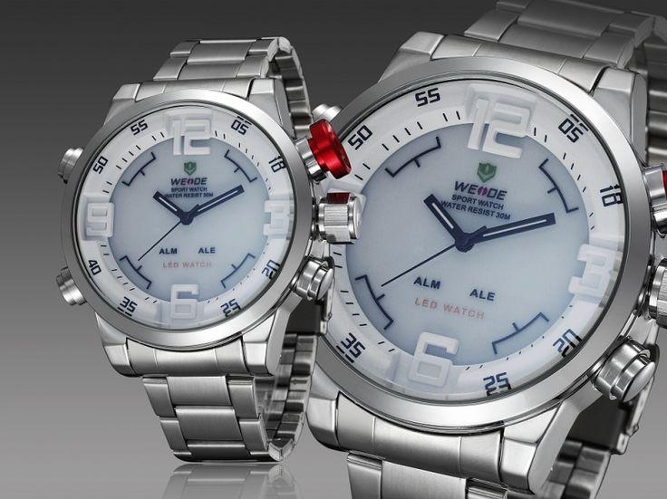 Diver Quartz Wristwatch Multi-function Dual Time LED Display WH2309
