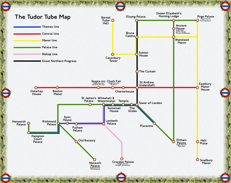 the tudor london underground map
