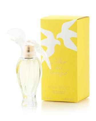 L'Air du Temps Perfume by Nina Ricci.  An old classic for me.  This bottle smells like springtime.  It's spicy, floral, and woodsy, with a touch of powdery notes.  Love the carnation scent.