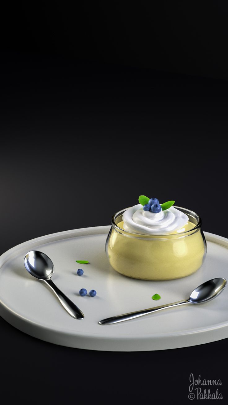 3D dessert. Made with Blender 3D. © Johanna Pakkala. – 3D modeling