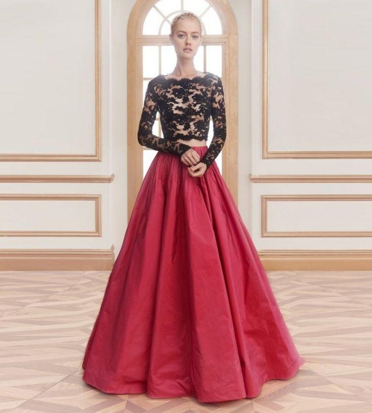 Бордовая шифоновая юбка