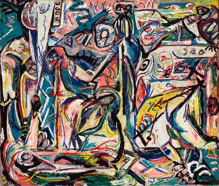Circumcision (1946) by Jackson Pollock   Lone Quixote #art #arte #artwork #kunst #abstract #pollock #expressionism #JacksonPollock