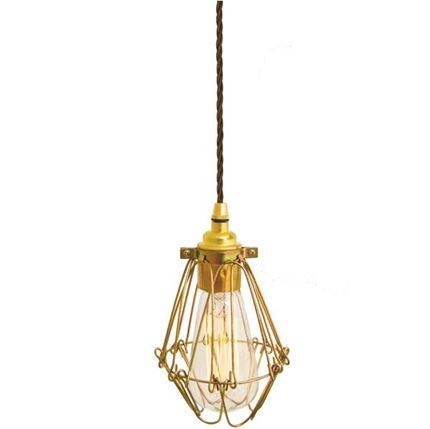 Show details for Praia Gold Industrial Cage Pendant