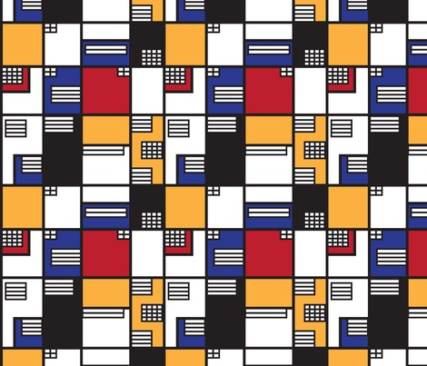 If Mondrian was an Architect - fabric, wallpaper, decals and wrapping paper. Available from Spoonflower in 3 different sizes.