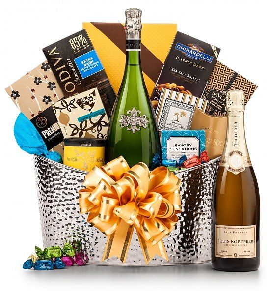 Toast of Elegance Champagne Gift Basket: Champagne Gift Baskets - Elegance at its finest.