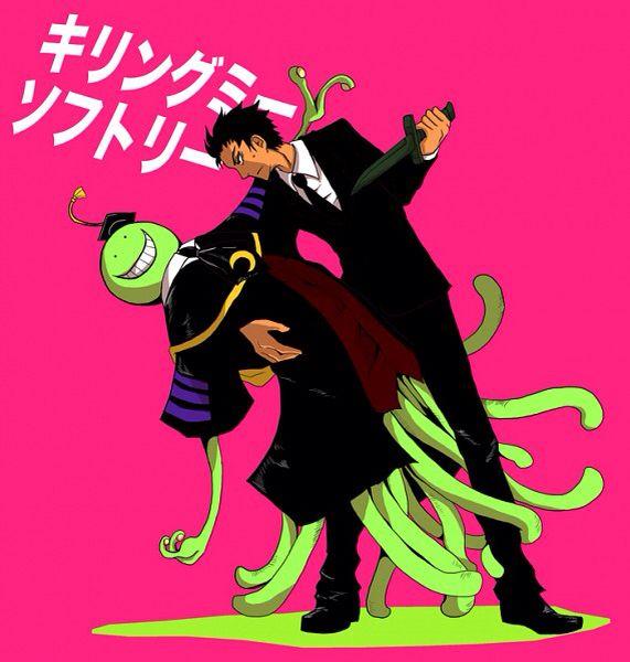 Koro-sensei and Karasuma Tadaomi