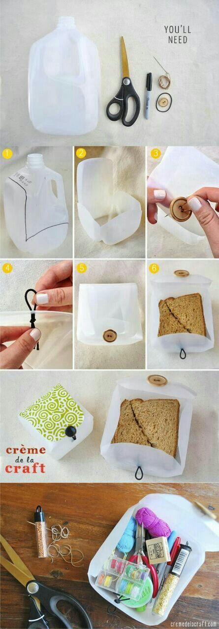 Milk jug sandwich box