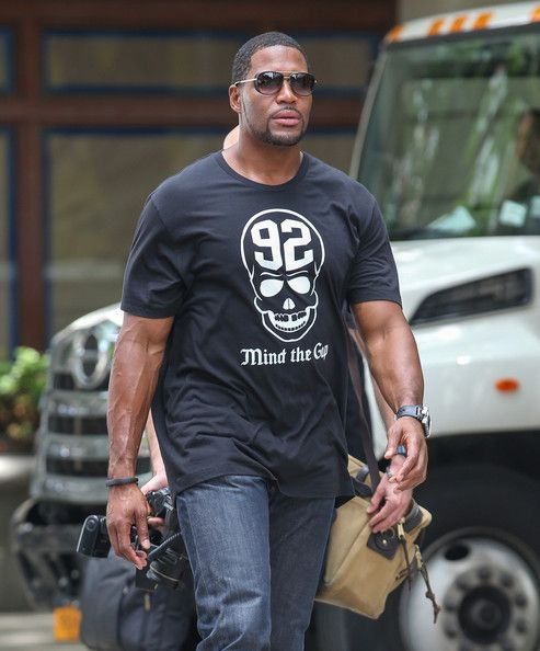 Michael Strahan Takes a Walk in NYC