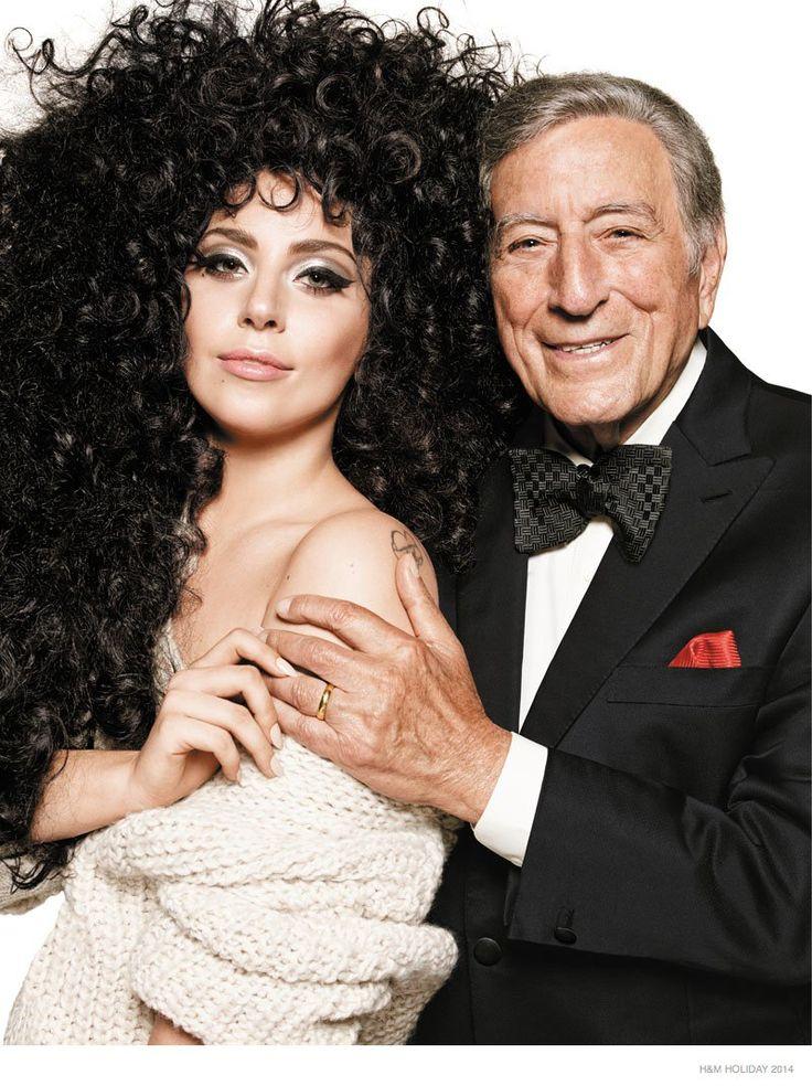 Lady Gaga, Tony Bennett & Top Models Front H&M Holiday 2014 Campaign