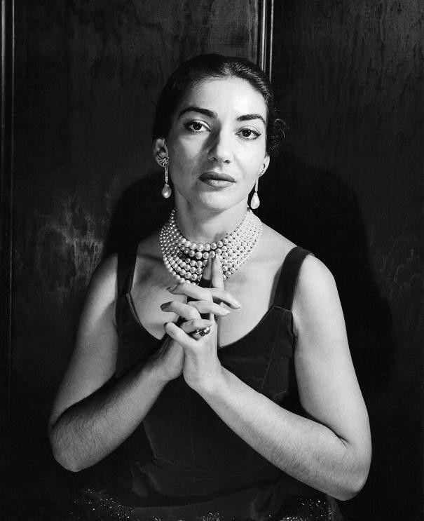 Picture of Maria Callas by Cecil Beaton (ca. 1957).