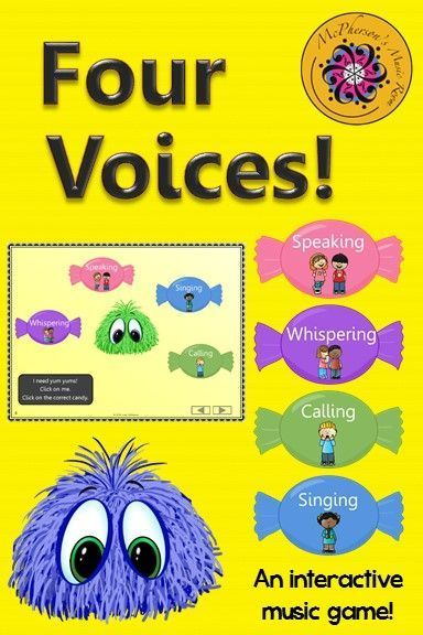 Fun elementary music interactive game! Your students will love the 4 voices…
