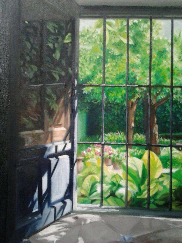 Pintura. Desde la ventana. Detalle 1.