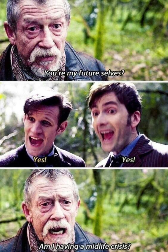 Even the most serious version of The Doctor can snark hahaha