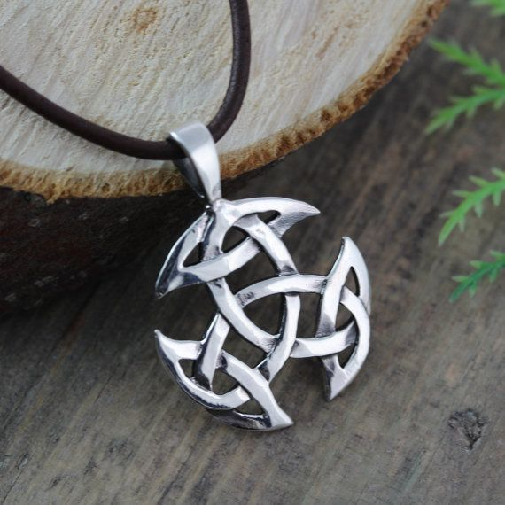 Sterling silver Celtic Knot Necklace for Men Mens by LifeOfSilver, $33.80