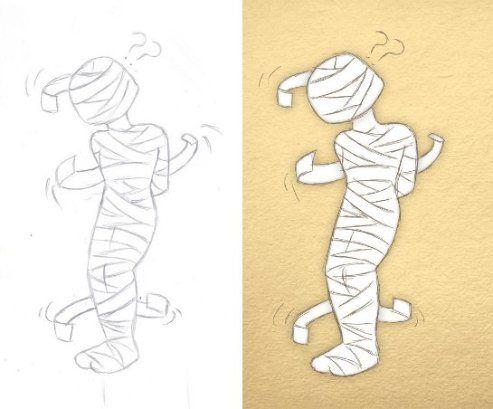 Book Illustration - Mummy   By Corinne Jade Shardlow