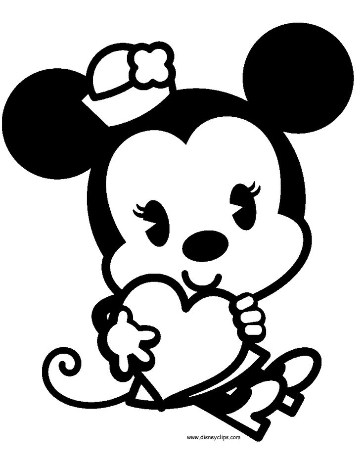 coloring pages cute disney - disney baby minnie coloring pages