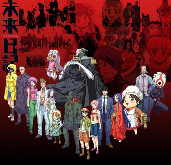 Day 13: Mirai Nikki aka The Future Diary ... after riding this insanity rollercoaster and watching all 27 episodes I can honestly say this was one of the most addictive animes iv seen in a while ... 4 stars! It pritty hard to stop watching an anime where everyone is in a complex fight to the death and the last surviver becomes God as the reward. Yuno reminded me how terrifying stalkers are while being pritty awesome at the same time. Secretly I wad cheering for 9th the whole time :-)