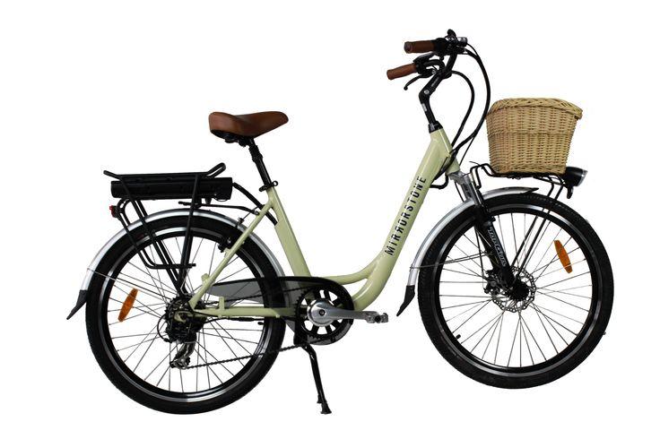 Vintage Style Electric Bike Milky White