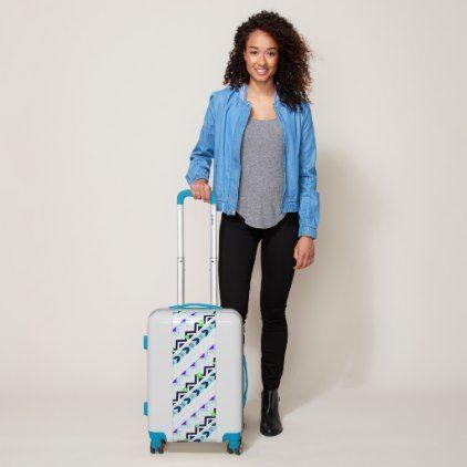 Aztec Girl Luggage - accessories accessory gift idea stylish unique custom
