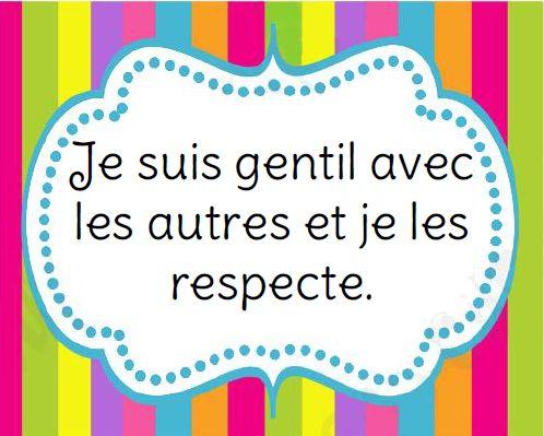 French Classroom Rules Posters. Règles de vie de la classe